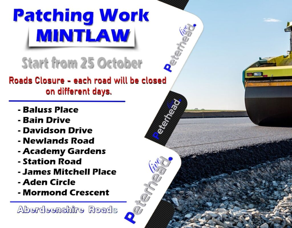 Mintlaw patching works